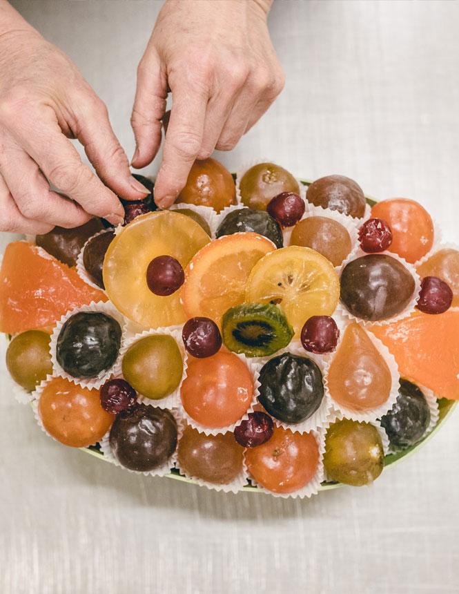 kandierten Früchte