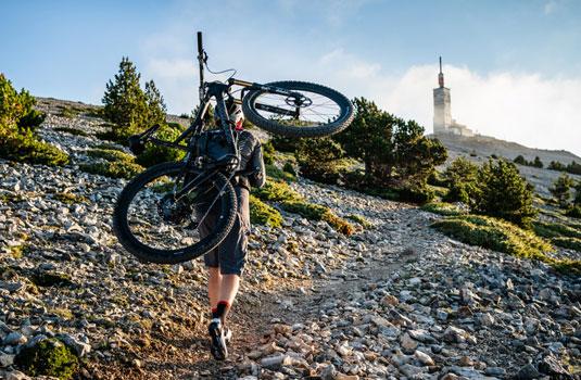 Mountainbiker mont Ventoux